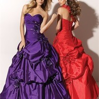 Ball Beaded One Shoulder Strap Taffeta Prom Dresses PDM113 -Shop offer 2012 wedding dresses,prom dresses,party dresses for girls on sale. #Category#