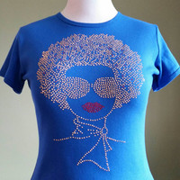 Gold Afro Lady