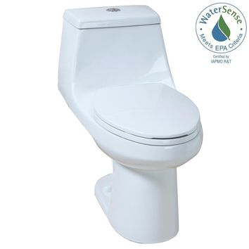 Glacier Bay 1-piece 1.1 GPF/1.6 GPF High Efficiency Dual Flush Elongated All-in-One Toilet in White-N2420 - The Home Depot