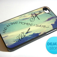 Infinity Quote Symbol Vintage Sky iPhone 4 / 4S Case