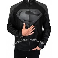 New Black & Grey Superman Smallville Jacket | DesertLeather