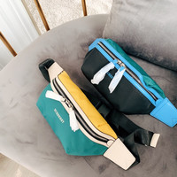 Burberry Multicolor Splice Canvas Belt Bag