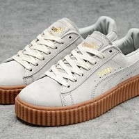 Puma Fenty by Rihanna Beige Brown Creepers Men's Women's Suede Shoes