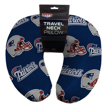 New England Patriots NFL Beadded Spandex Neck Pillow (12in x 13in x 5in)