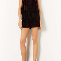 Devore Fringe Playsuit - New In This Week - New In - Topshop USA