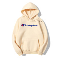 The New Champion Print Casual Loose Hoodies Pullover Sweater