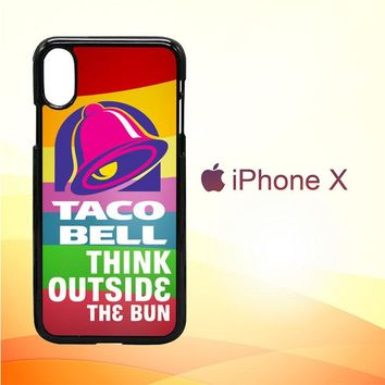 taco bell logo Z3337 iPhone X Case