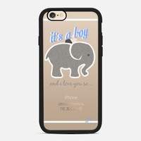 We're Having A Boy - Elephant Blue & Gray iPhone 6s case by Love Lunch Liftoff | Casetify