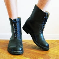 Vintage Soviet military army boots US 27 cm 9 10 10.5 EU 43 UK 9 9.5 ussr soldier rain combat footwear galoshes loafer outdoor hiking work