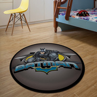 IN STOCK-Luxury 3D Batman Round Carpet Dywan 80/100/120/160CM alfombras dormitorio Circular Living Room rugs mats tapis chambre