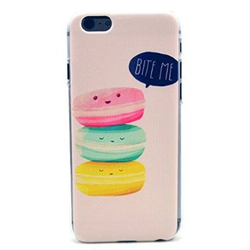 iPhone 6 Case, iPhone 6 (4.7 Inch) Case - LUOLNH Fashion Style Colorful Painted Cute Cakes Clear Bumper Hard Case Back Cover Protector Skin For iPhone 6 4.7Inch (Eat Me)