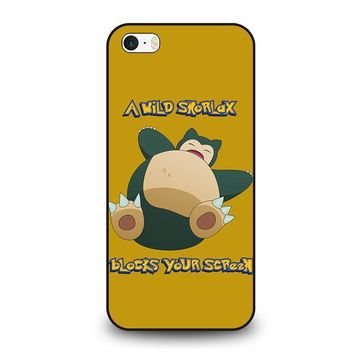 snorlax pokemon iphone se case cover  number 1