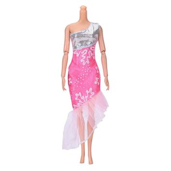 Beautiful Handmade Party Dress Fashion Clothes For Barbie Doll Kids Toys Gift Play House Dressing Up Costume