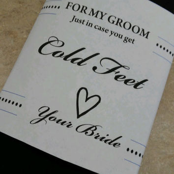 Groom Socks. In Case You Get Cold Feet, Groom, Groomsman, Wedding, Groom Gift