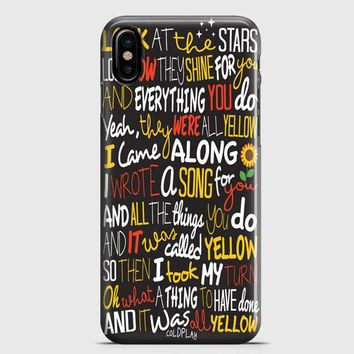 Coldplay Yellow iPhone X Case