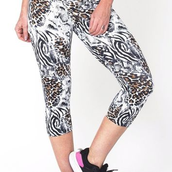 White Animal Capri