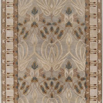 Surya Mentone MTO7000 Brown/Pink Arts and Crafts Area Rug
