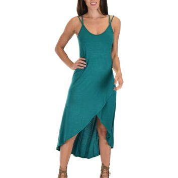 Lyss Loo All Wrapped Up Strappy Green Wrap Dress