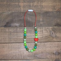 Grinch Mini Teething  Necklace