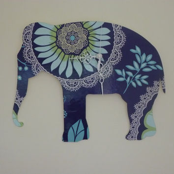 Elephant clock Designer wallpaper covering by ikandi11 on Etsy