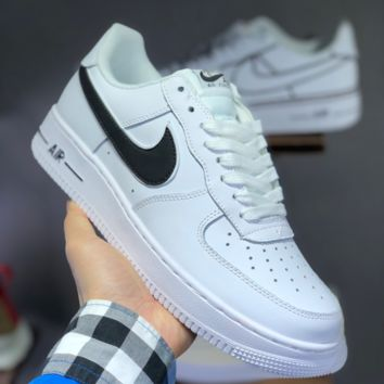 DCCK 1430 Nike Air Force 1 AF1 Casual Solo Cushion Skate Shoes White Black