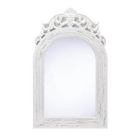 Arched Top White Wall Mirror