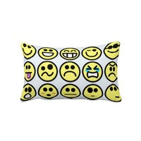 Smiley Face Emoticons Throw Pillows from Zazzle.com