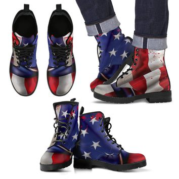 American Flag Men's Boots | Men's Leather Boots