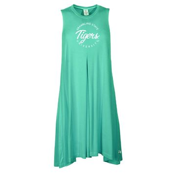Official NCAA Grambling State University Tigers - RYLGST04 Women's Sleeveless Spandex Pleat Dress