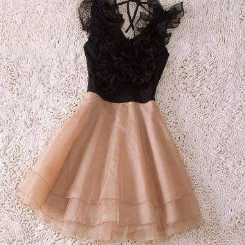 Slim organza skirt dress