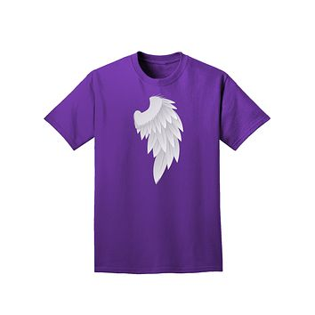 Single Right Angel Wing Design - Couples Adult Dark T-Shirt