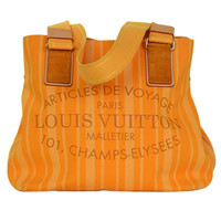 Louis Vuitton Orange Passion 2012 Cabas Raye PM Tote Bag