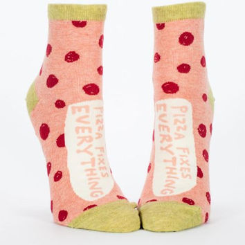 Pizza Fixes Everything Women's Ankle Socks
