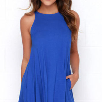 Tupelo Honey Royal Blue Dress