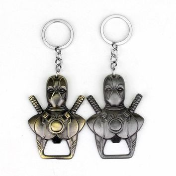 Deadpool Dead pool Taco  Bottle Opener Keychain  Mask  Beer Opener Key Chain Ring Holder Movie Jewelry Souvenirs AT_70_6