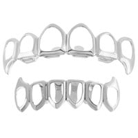 Grillz For Teeth Halloween Special 14k White Finish