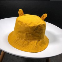 New Cute Ear Bucket Hat for Women Panama Fashion Bob Caps Hip Hop Gorros ladies Summer Caps Beach travel Sun Fishing girls Hat
