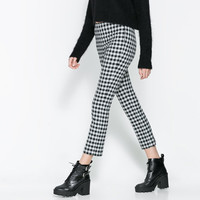 CHECKERED TROUSERS - Trousers - Woman | ZARA United Kingdom
