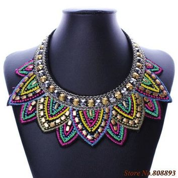 Indian Beaded Statement Necklace