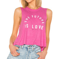 Spiritual Gangster Future Crop Tank in Passion Pink | REVOLVE