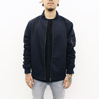 Nyle Bomber Jacket (Navy Blue)