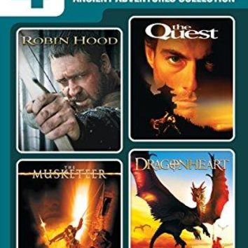 Jean-Claude Van Damme & Russell Crowe & Peter Hyams & Rob Cohen -4 Movie Marathon: Ancient Adventure Collection Robin Hood / The Quest / The Musketeer / Dragonheart
