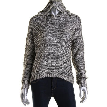 RD Style Womens Marled Long Sleeve Hooded Sweater