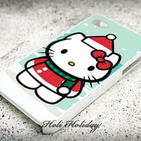 Hello kitty Christmas - Print on hard plastic - iphone case - iphone 4 case - iphone 4/s case - iphone 5 case - samsung case - iphone