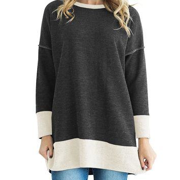 Block Color Tall Top with Side Split