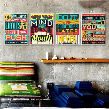 Canvas Wall Art: Inspirational and Motivation Quotes Wall Art on Canvas