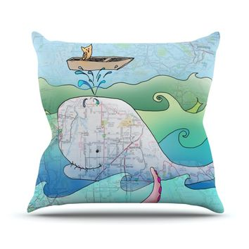 "Catherine Holcombe ""I'm on a Boat"" Throw Pillow"