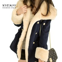 NORMOV Double Breasted Winter Coat