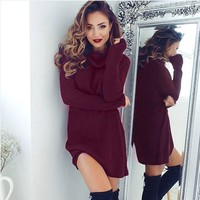Winter Casual Warm Long Sleeve Jumper Turtleneck Sweaters