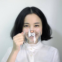 Kitty Whiskers Clear Glass Mug